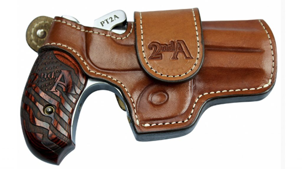The Bond Arms PT2A even comes with a special 2A-themed holster.
