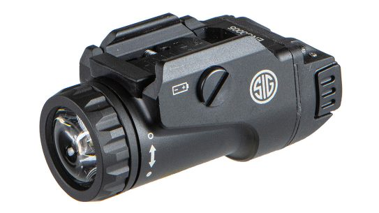 The SIG FOXTROT1X puts out 450 lumens of white light.