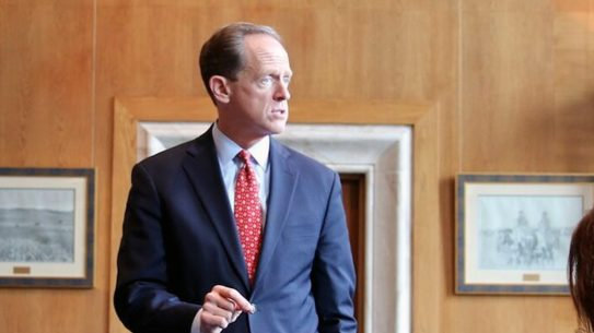 Senator Pat Toomey officially opposes David Chipman for ATF director.