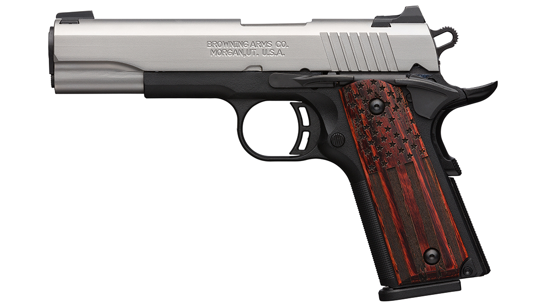 Browning Adds Black Label Pro American Flag Pistol to 1911-380 Line