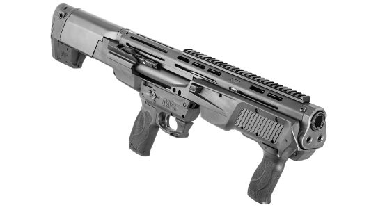 The S&W M&P12 Bullpup Shotgun brings compact firepower.