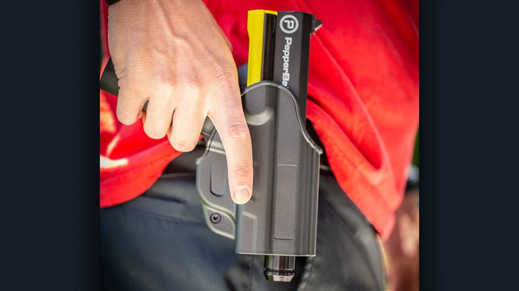 With a full-size pistol version, Pepperball allows you to utilize prior firearms training.