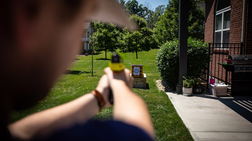 PepperBall offers inert ammo, which is perfect for pistol target practice.