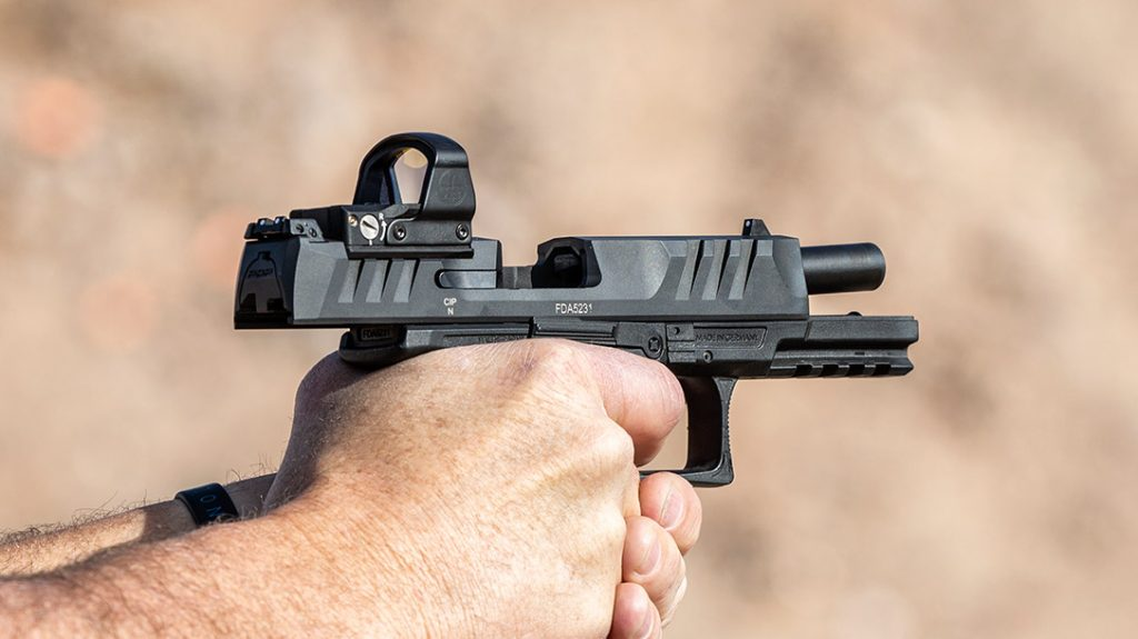 The PDP was built with what Walther calls Red Dot Ergonomics. Meaning the design allows shooters to maximize the benefit of using a red-dot sight.