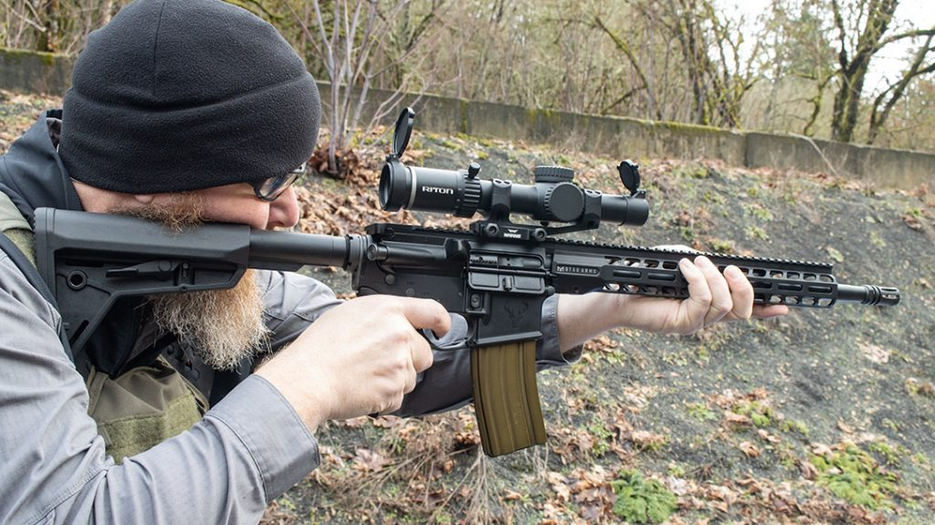 The stock and handguard combination proved quite comfortable for shooters with both large and small frames.