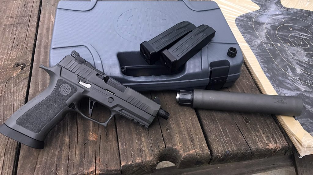 It does not take a drastic imagination leap to visualize what roles a suppressed P320 XCARRY LEGION would fill.  Anything from sentry removal, canine or other, and CQB operations indoors come to mind.