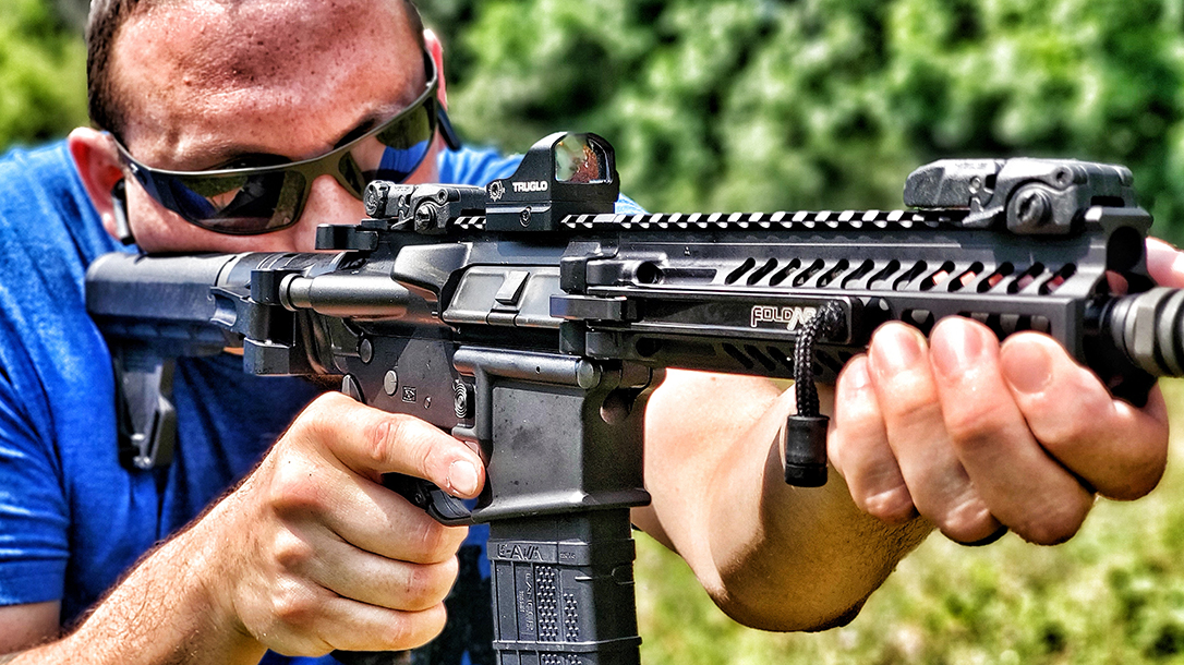 The FoldAR ran just like any other AR pistol during testing.