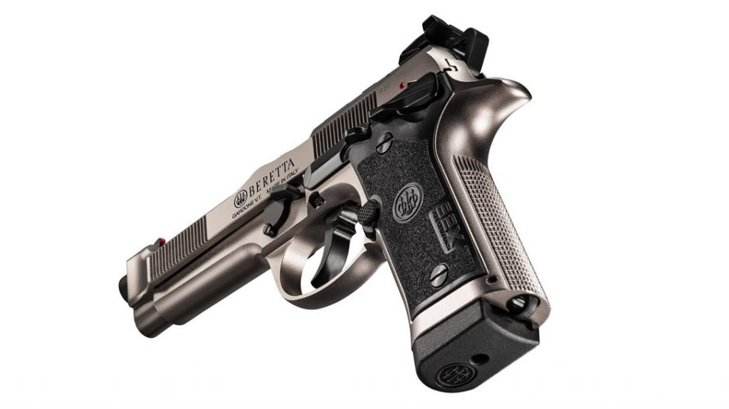 Weight reduction of the Beretta 92X Performance Defense included the loss of the picatinny rail.