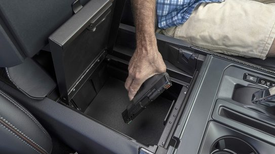 The Ford F-150 Console Security Safe.