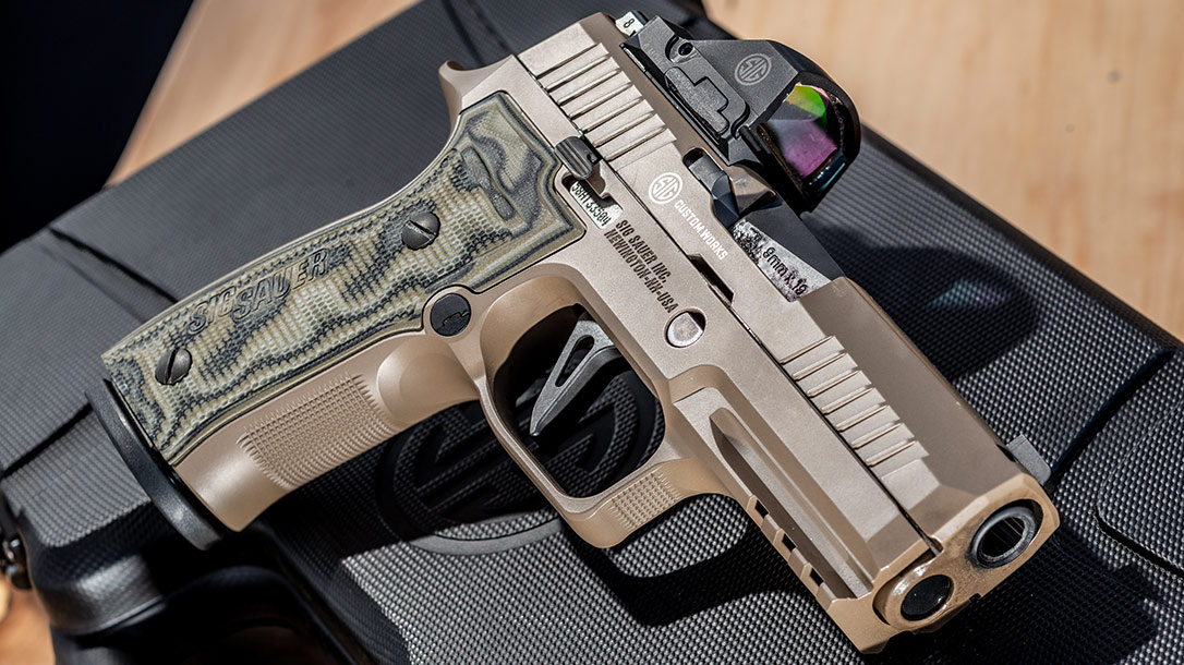 The Sig Sauer P320 AXG Scorpion has features to maximize performance.