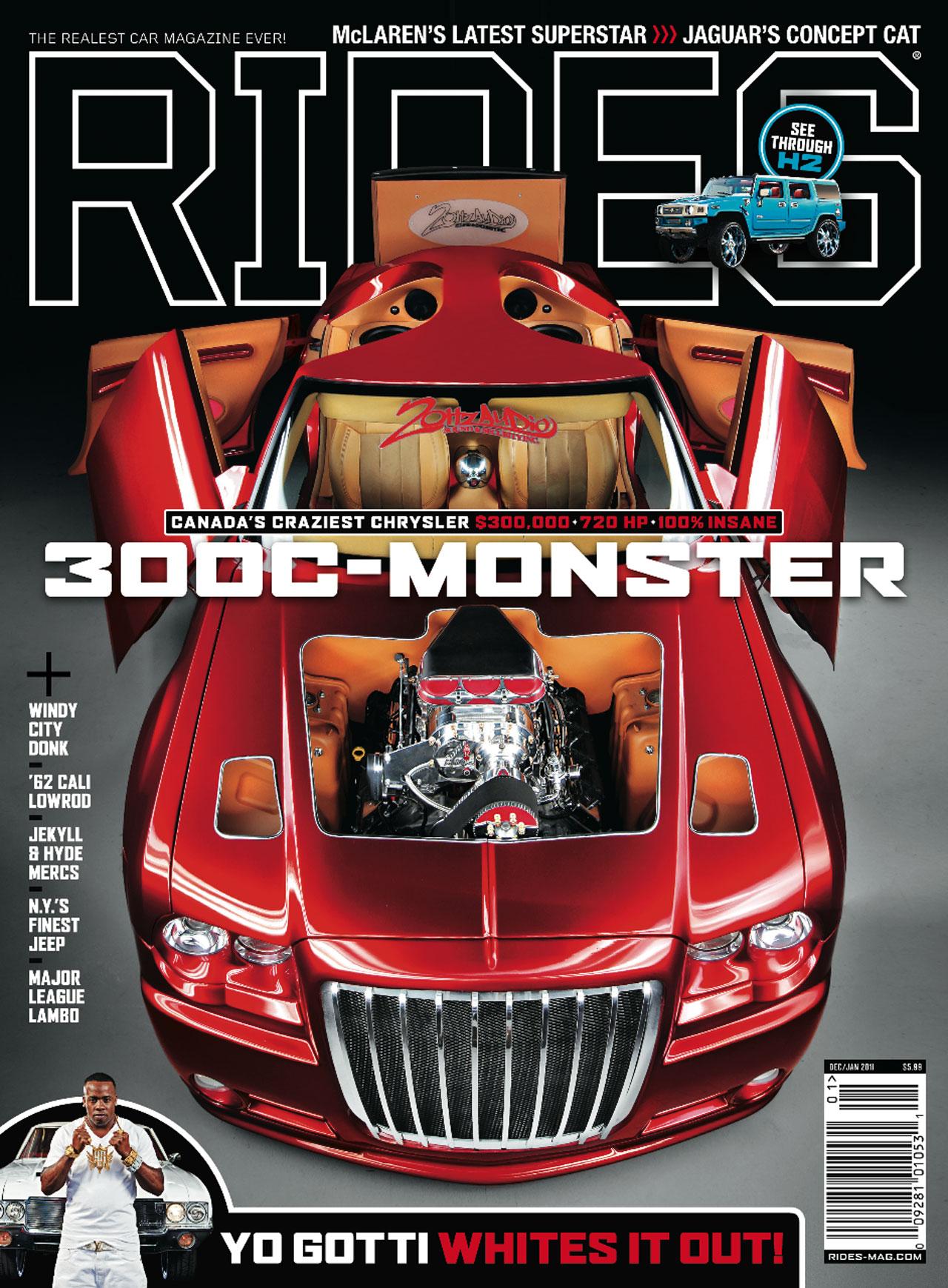 rides, cars, cover, december, january, 2011, chrysler, 300c, monster, yo gotti