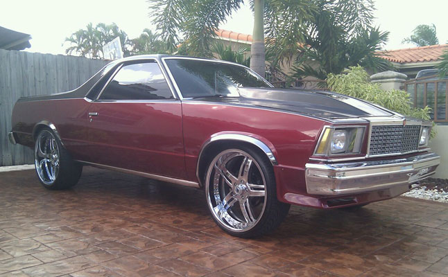 1978 Chevy El Camino On Asanti Af 162s Rides Magazine