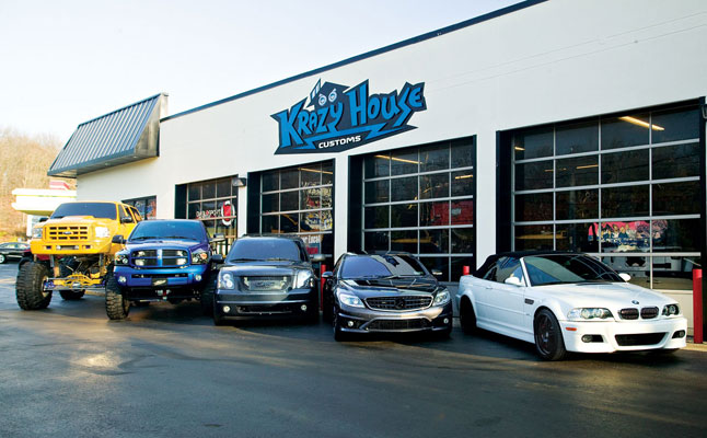 cars rides krazy house customs