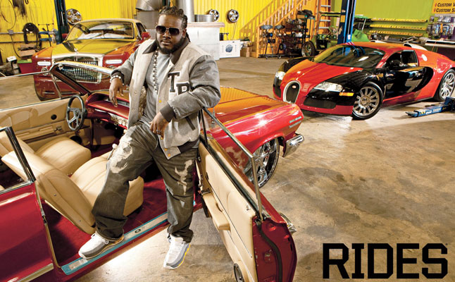 t-pain rides cars