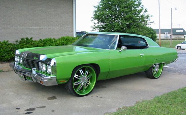 rides cars 73-impala-green