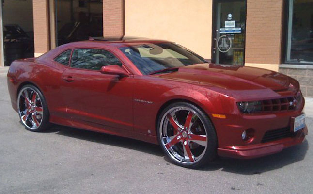 rides cars chevrolet camaro red clean