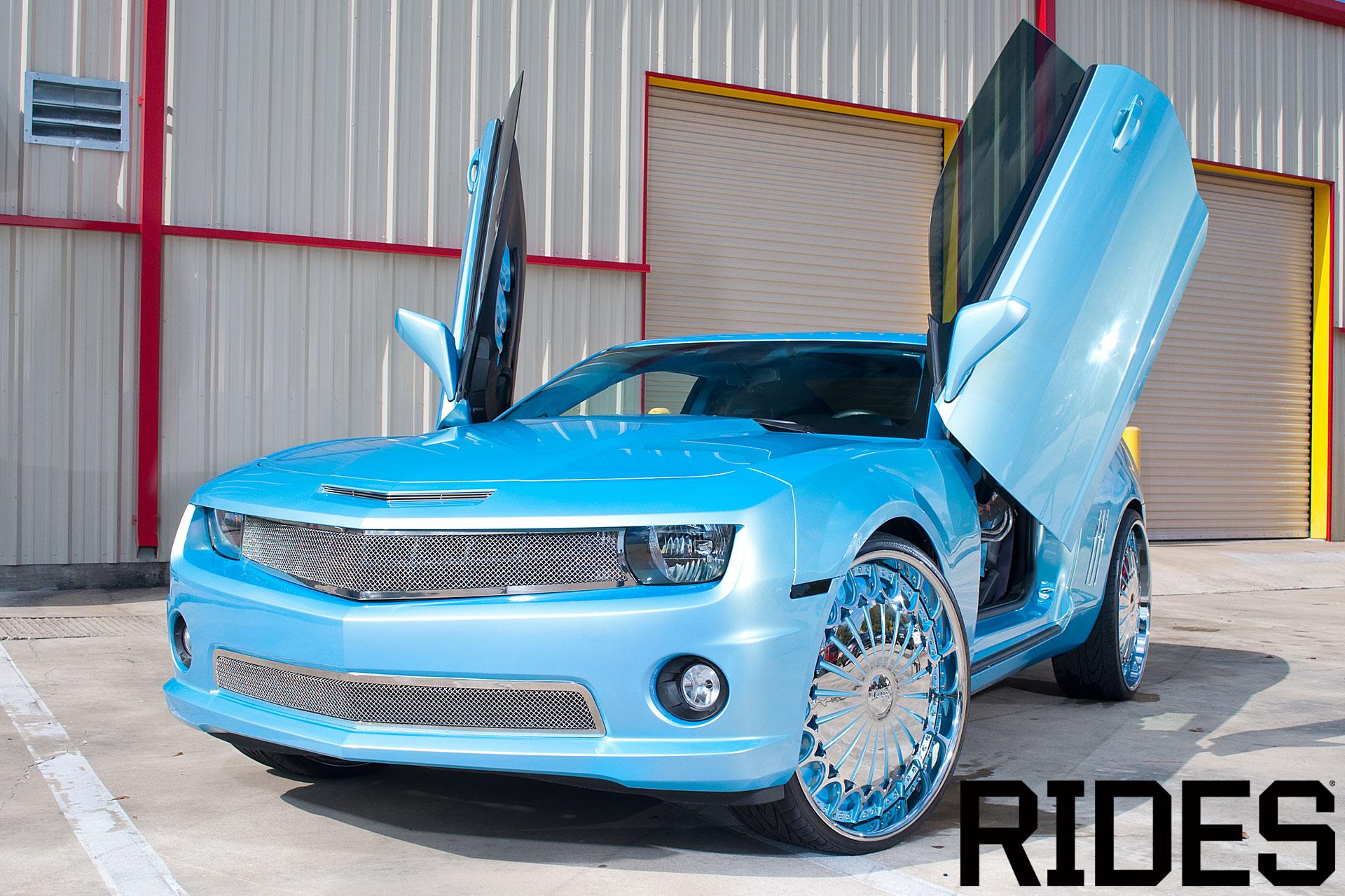 Baby Blue Chevy Camaro