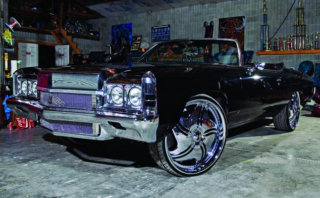 rides cars zach randolph black donk 1972 chevy chevrolet impala vert convertible