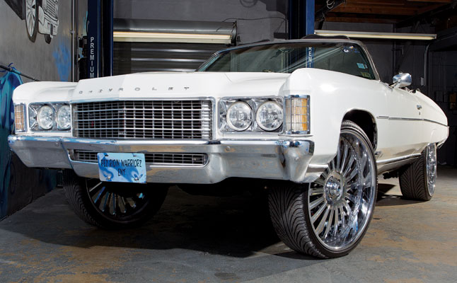 rides cars donk 1971 chevrolet impala vert white chevy convertible