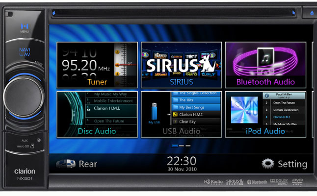 rides cars nx501 clarion feat head unit