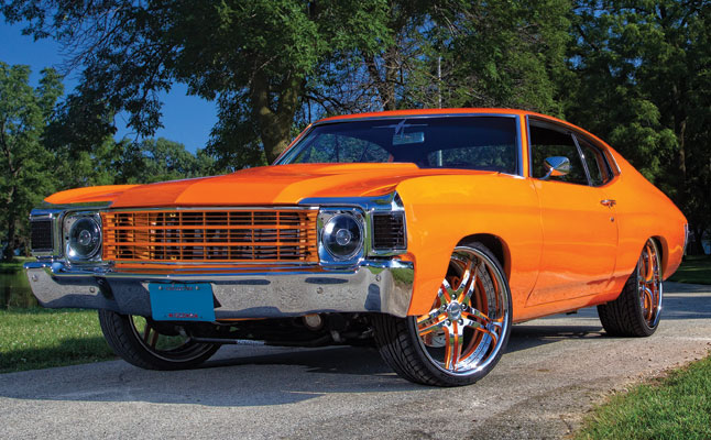 rides cars andrew link 1972 chevy chevrolet chevelle orange