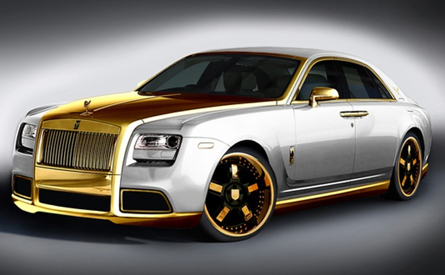 2012, Rolls-Royce, Ghost, Rolls, Rides, Gold, Custom