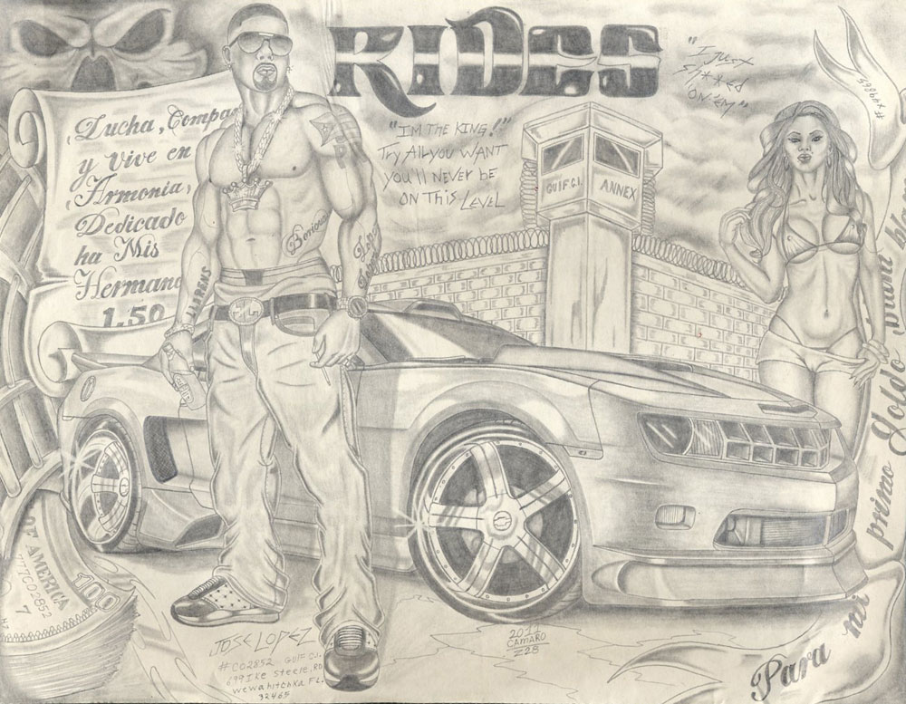 rides cars jose lopez wewagitchka florida drawing art