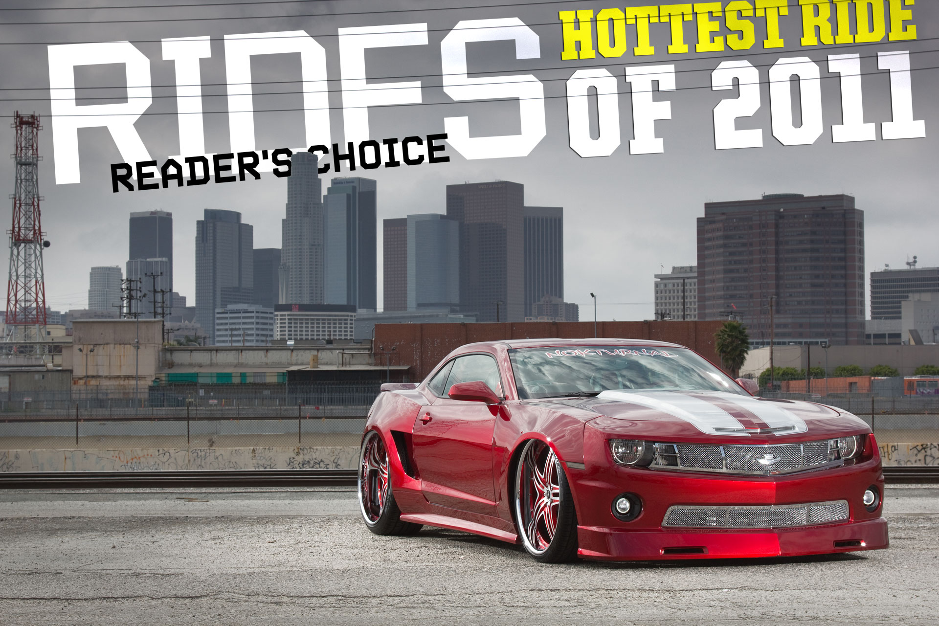 rides cars hottest ride of 2011 chito camaro chevy chevrolet widebody slammed bagged supercharged