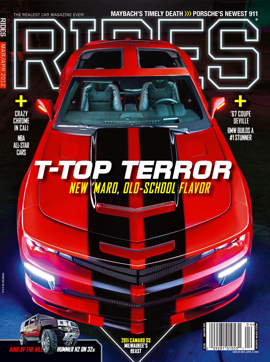 rides cars t top terror camamro march april 2012
