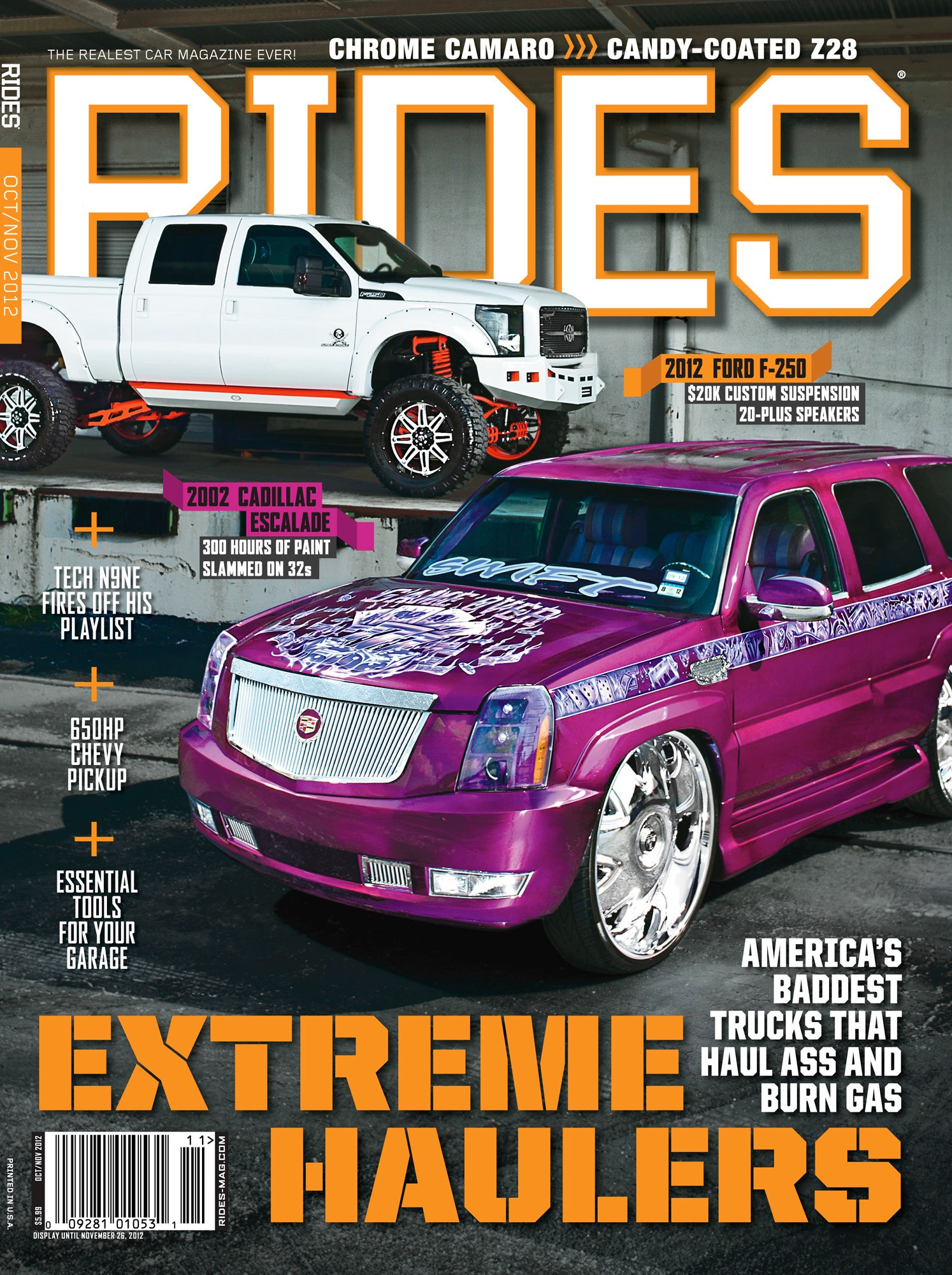 rides cars october november 2012 cover