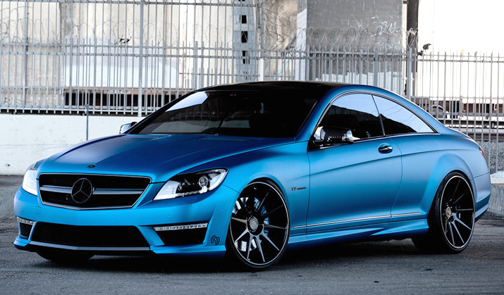 rides cars r1 motorsport royal muffler matte blue cl63 amg mercedes benz