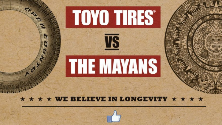 rides toyo tires mayan doomsday sweepstakes apocalypse prophecy facebook like