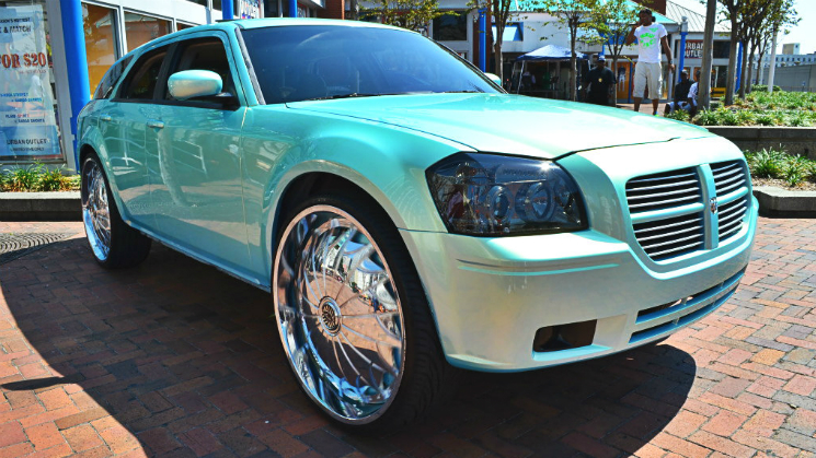 rides blue dodge magnum rims whips by wade outrageous paint