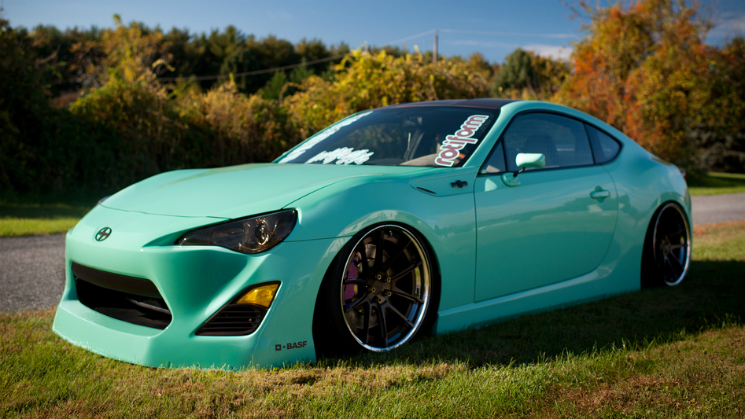 rides mint chocolate chip green scion fr-s matte root beer rotiform concave sema 2012 air lift