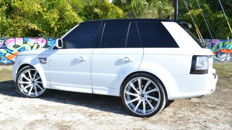 rides white melky cabrera range rover savini mc customs miami sport land