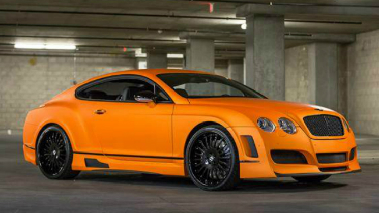 orange bentley continental rides