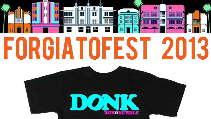 forgiatofest donk box and bubble 2013 t shirt miami beach convention center