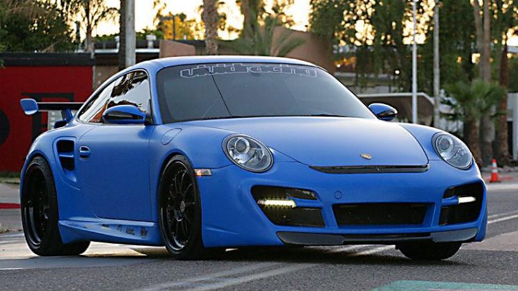 Flat Blue Vivid Racing Porsche 997TT HRE rides