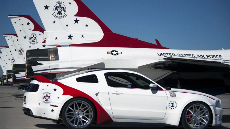 U.S. Air Force Mustang GT Thunderbirds Forgiato Rides