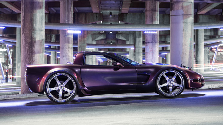 chameleon chevrolet chevy corvette rides flip paint forgiato vette chrome purple