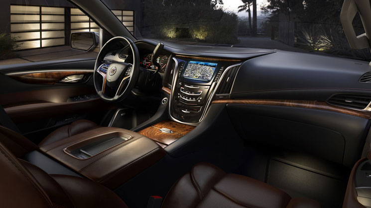 rides 2015 cadillac escalade interior caddy esco