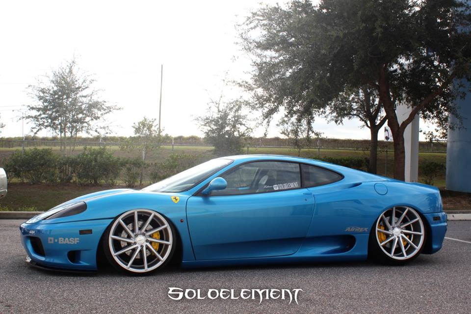 Video Slammed Ferrari 360 Modena On Vossen Cvt Wheels Rides Magazine