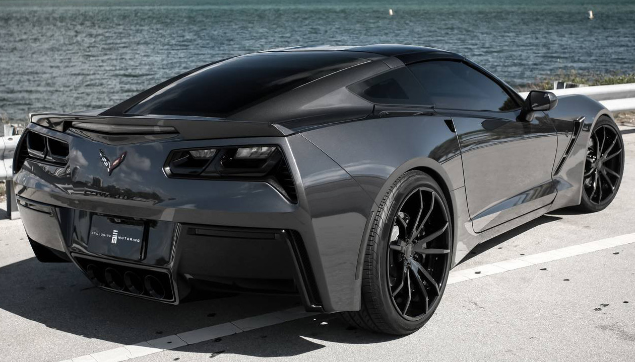 Exclusive Motoring Stealth Cyber Gray Chevrolet Corvette