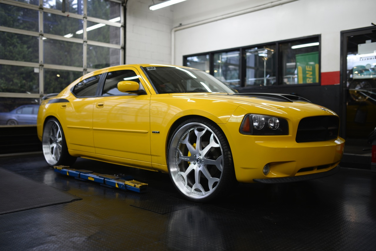 Daytona Charger On 26 Inch Brushed Forgiatos By Butler