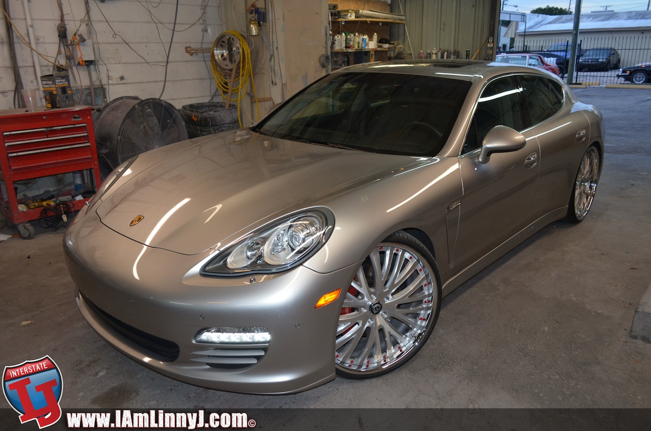 Porsche Panamera On Brushed Lexani Forged Wheels With