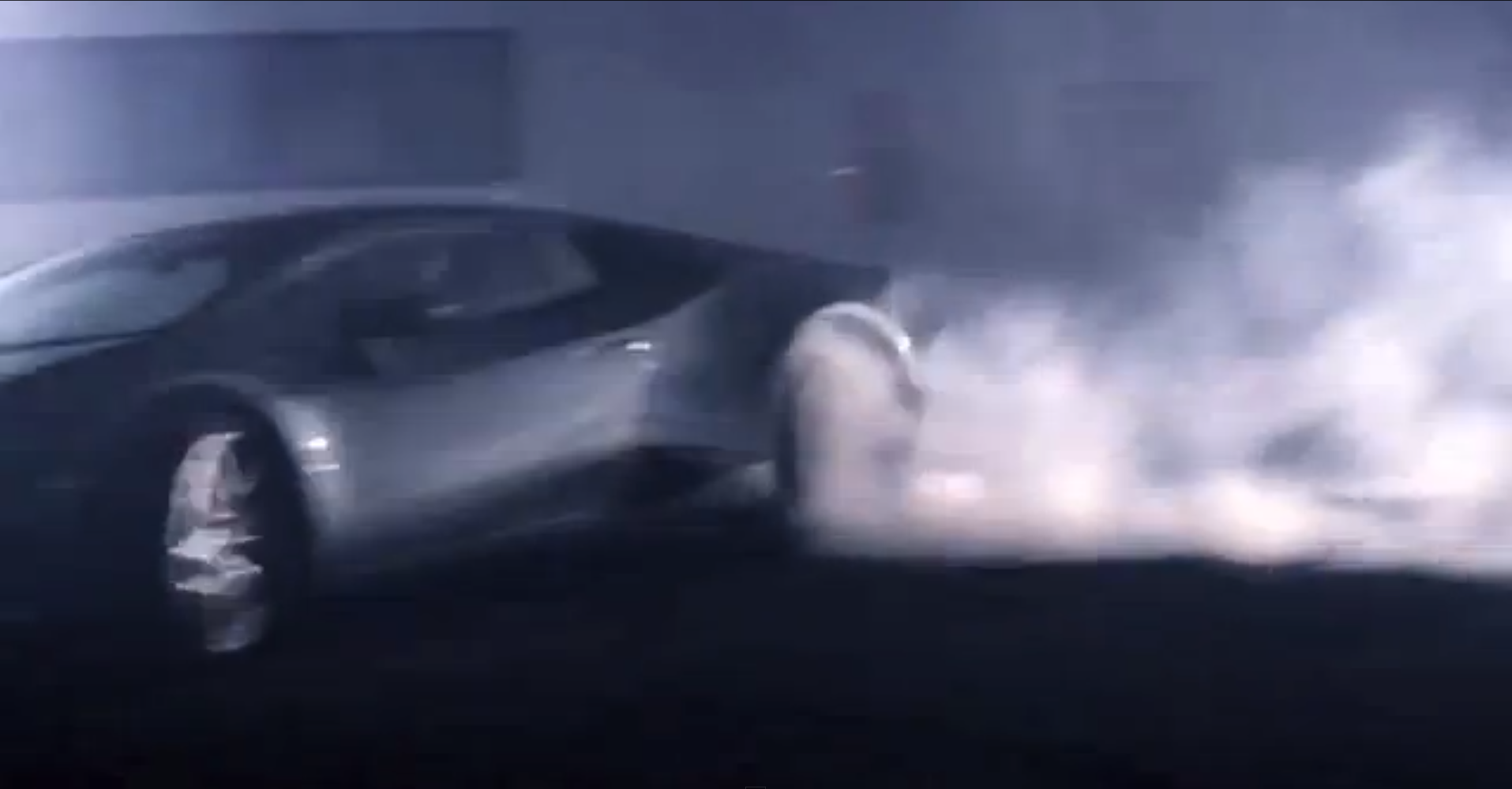 Lamborghini Hurcan Doing Donuts At The Lambo Factory