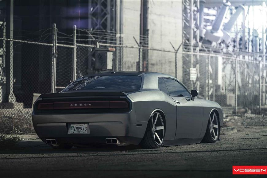 Bagged Challenger On Vossen Wheels Rides Magazine