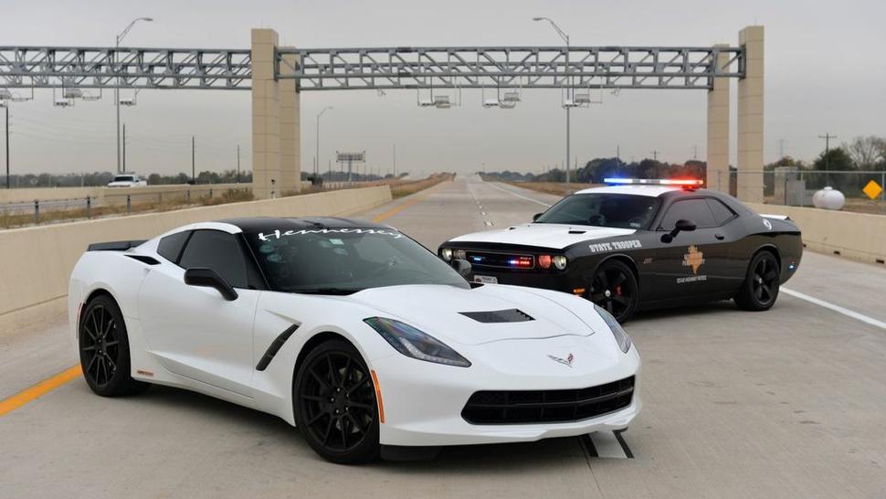 Cops Allow Hennessey C7 Corvette To Break 200mph On Texas