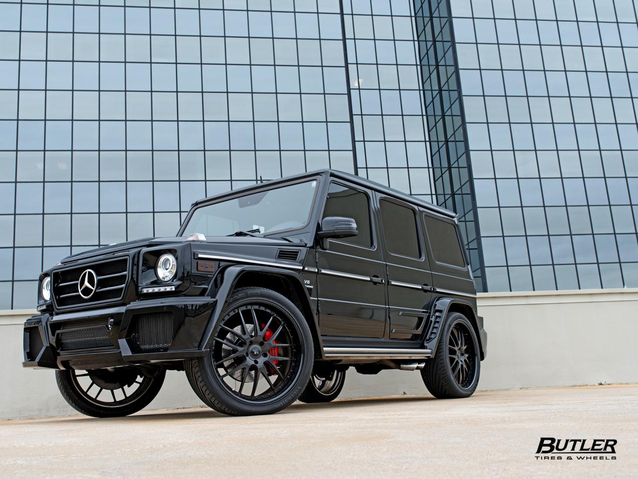 Lifted G Wagon >> Wald Black Bison Mercedes Benz G63 AMG Wagon on Savini ...