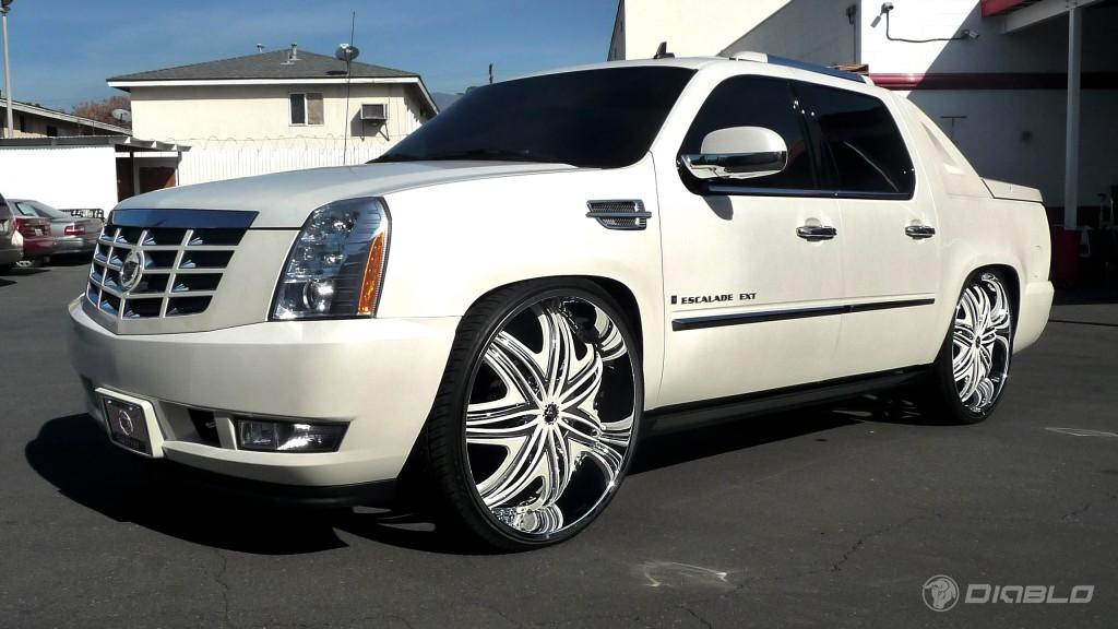 2010 Cadillac Escalade Ext On Diablo Wheels Rides Magazine